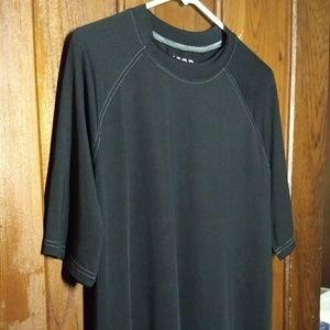 IZOD Athletic Sleepwear Tee Shirt. Black T-Shirt